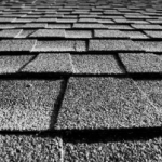 Close up of shingles on a roof