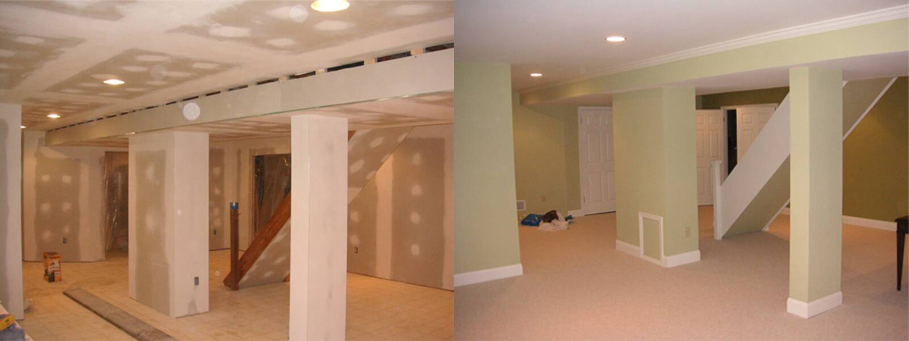 Before & After | Basement Services Berks County | Lehigh County | Gutter Company